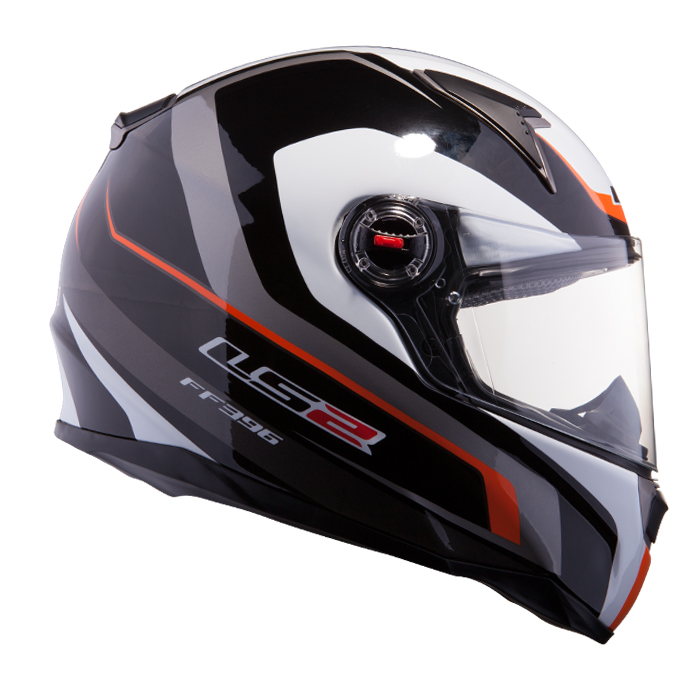 Casco integrale LS2 FF396 FT2 Forza R Nero Giallo fluo