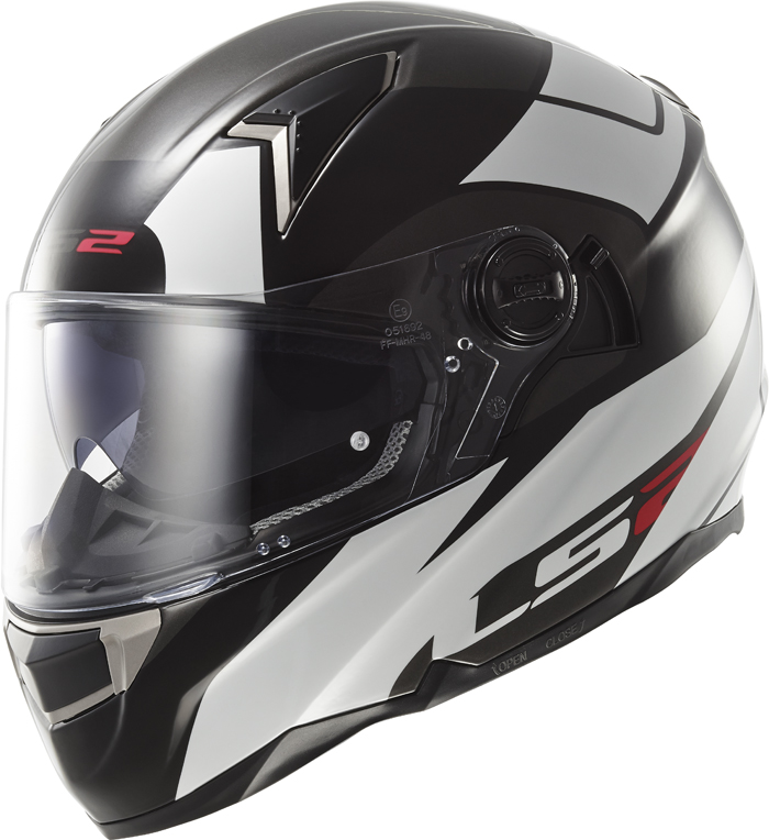 LS2 FF396 Dart FT2 Thunderbolt full face helmet White Black