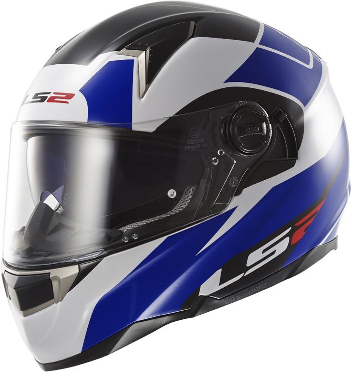 LS2 FF396 Dart FT2 Thunderbolt full face helmet White Blue