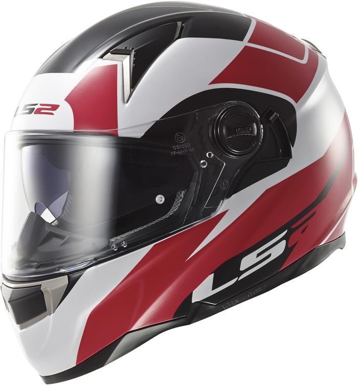 LS2 FF396 Dart FT2 Thunderbolt full face helmet White Red