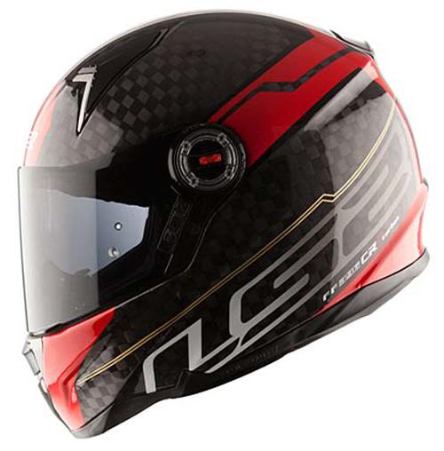 Casco integrale LS2 FF396 CR1 Trix Rosso Carbonio