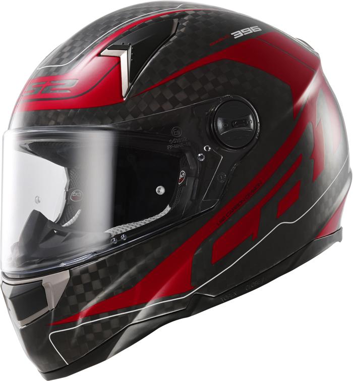 LS2 FF396 Diablo full face helmet Carbon Red