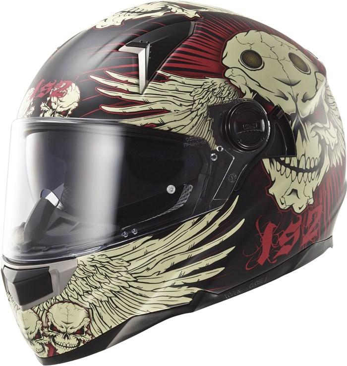 LS2 FF396 Dart FT2 Frantic full face helmet matte Black Red