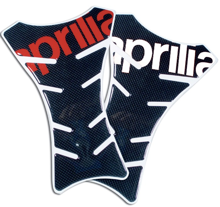 Transparent resin Progrip Tank Pad Carbon Aprilia