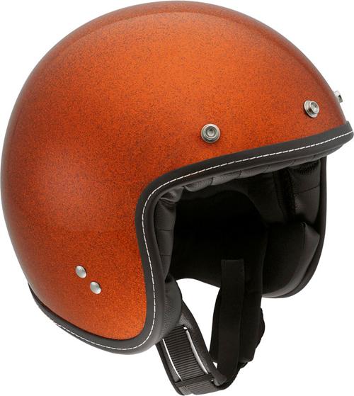 Agv RP60 Metal Flake orange demi-jet helmet