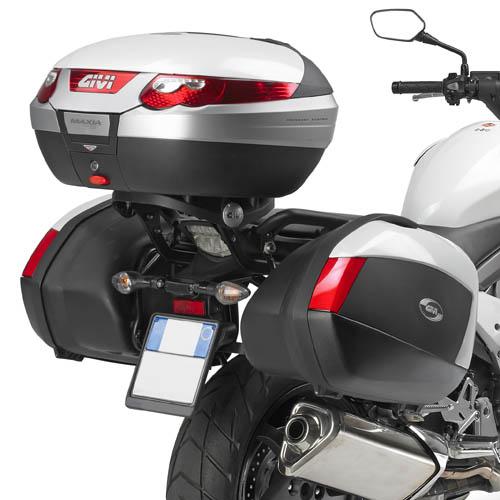Rear mounting Givi Monokey and Monolock for Honda