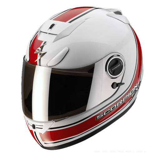 Casco integrale Scorpion Exo 750 Air Vintage Bianco Rosso