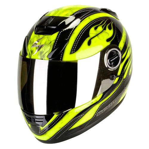 Casco integrale Scorpion Exo 750 Air Smoky Nero Giallo Neon