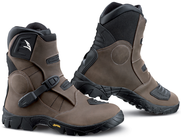 Stivaletto cross pelle Falco Volt Atv Marrone