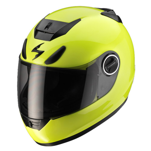 Scorpion Exo 750 Air full face helmet Neon Yellow