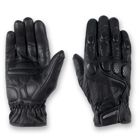 Leather motorcycle gloves summer Tazio Black Clover