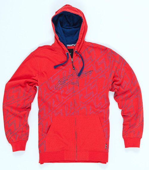 Fleece Full Zip Hoodie red Alpinestars