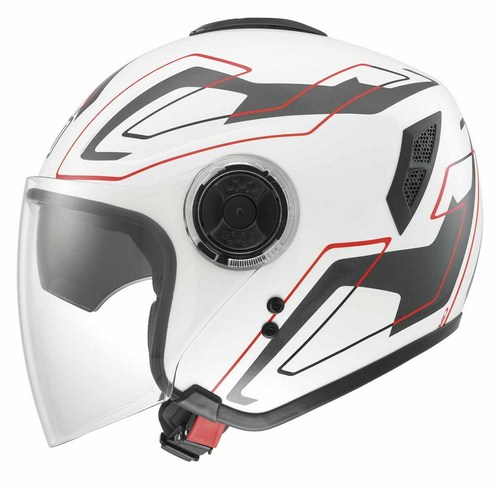 Agv Fiberlight Multi Future jet helmet white white-grey-red