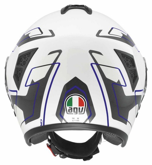 Agv Fiberlight Multi Future jet helmet white white-grey-blue