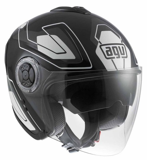 Agv Fiberlight Multi Future jet helmet white white-grey-black