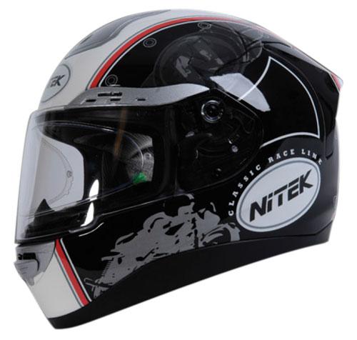 Nitek P1 Retò full face helmet Black