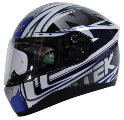Casco moto integrale Nitek P1 Racerhead Blu