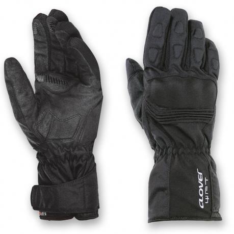 Clover WPT WP Waterproof Motorcycle Gloves Black