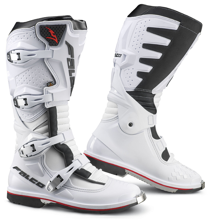 Boots Falco Cross Extreme Pro 3 with D3O shoe White Black