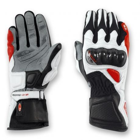 Summer Motorcycle Gloves Clover Yard-091 White Black