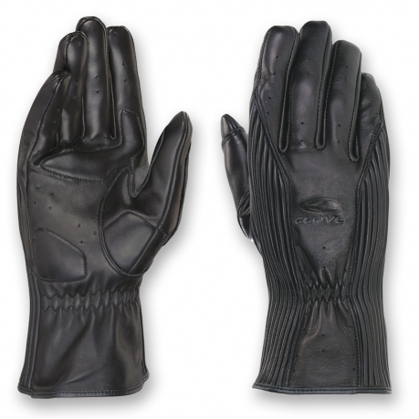 Women's leather motorcycle gloves Clover Vent-02 Black Lady