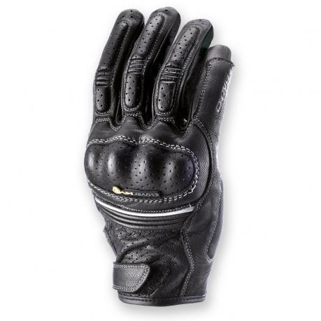 Women's leather motorcycle gloves Clover KV-2 Lady Black