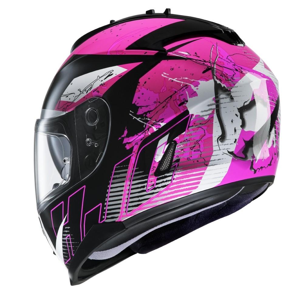 HJC IS17 full face helmet Pink Rocket MC8