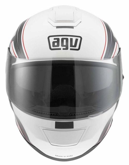 Casco moto Agv Strada Multi Vision bianco-grigio-rosso