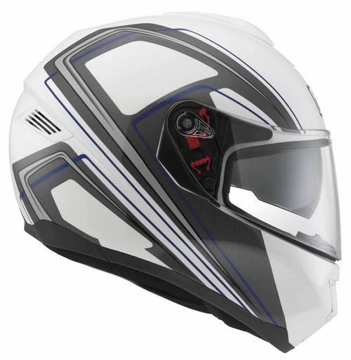 Agv Strada Multi Vision fullface helmet white-grey-blue
