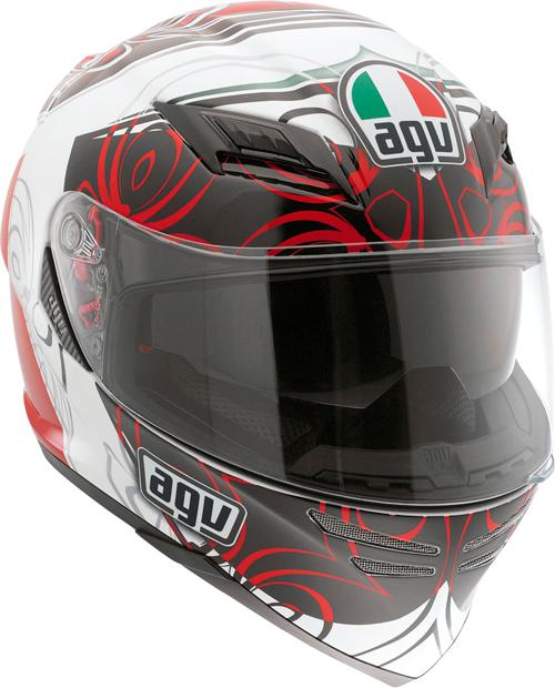 Casco moto Agv Horizon Multi Absolute bianco-rosso