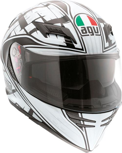 Casco moto Agv Horizon Multi Scrape nero-argento
