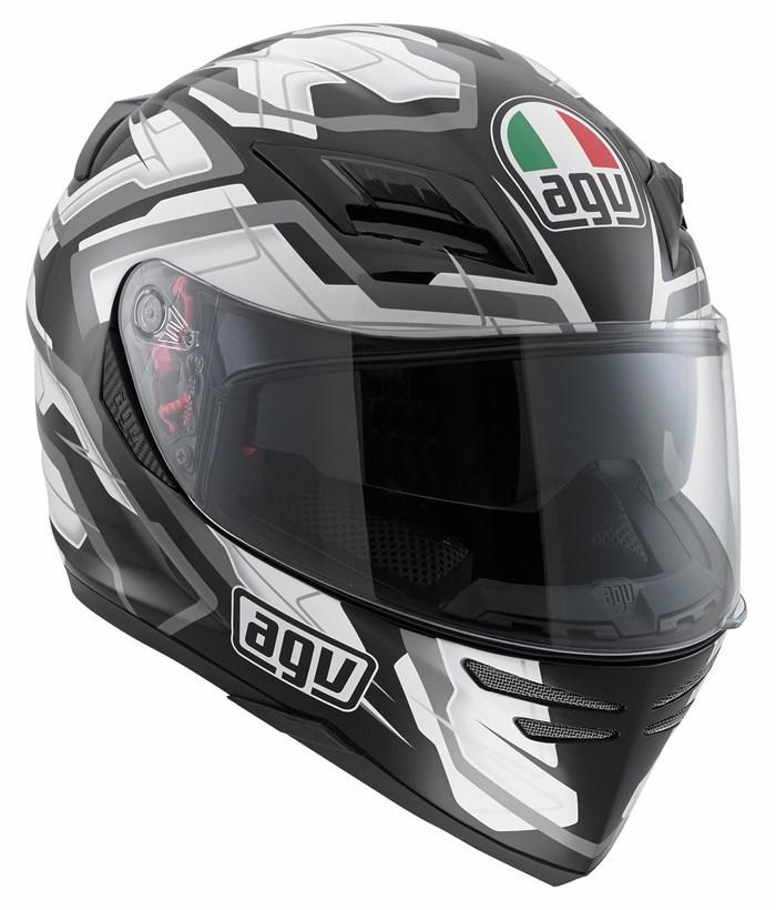 Agv GT Horizon Multi Stamina helmet black white gunmetal