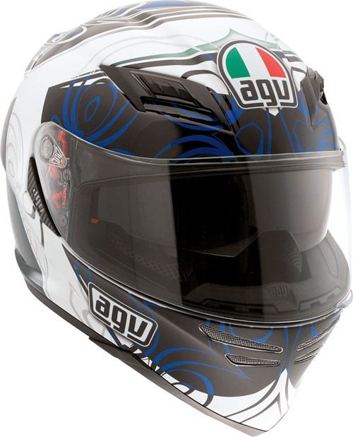 Casco moto Agv Horizon Multi Absolute bianco-blu