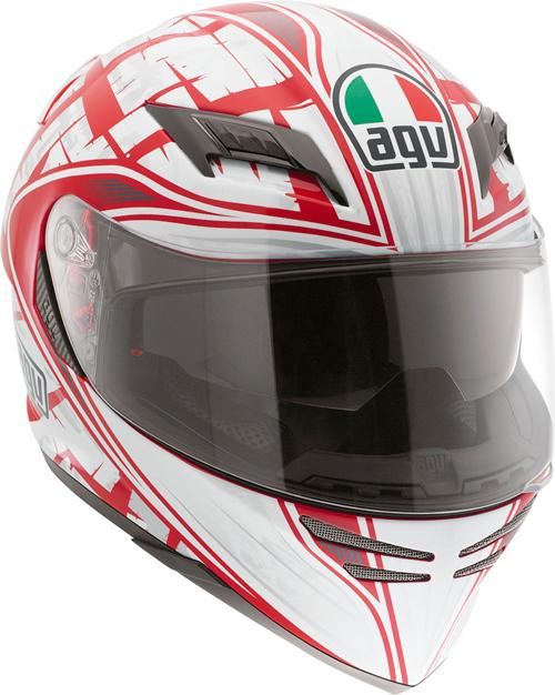 Agv Horizon Multi Scrape full-face helmet red-silver