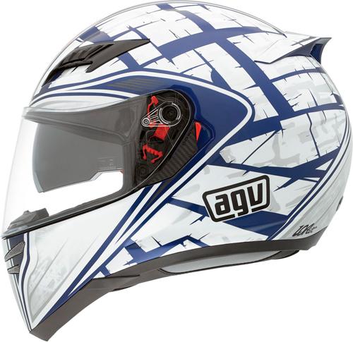 Casco moto Agv Horizon Multi Scrape blu-argento