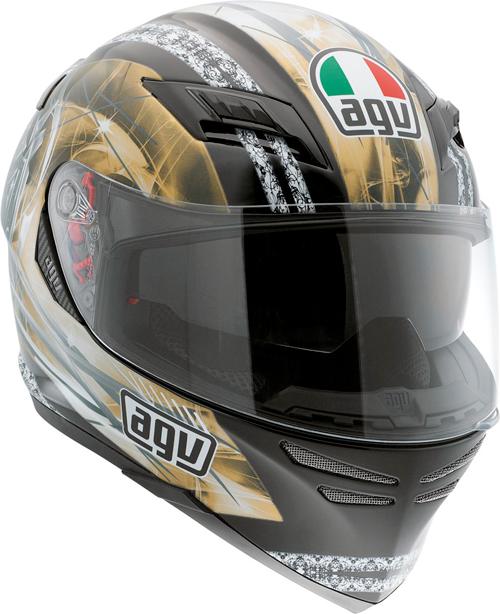 Agv Horizon Multi Blason full-face helmet black-gold