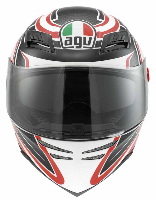 Agv Horizon Multi Racer fullface helmet white-carbon-red