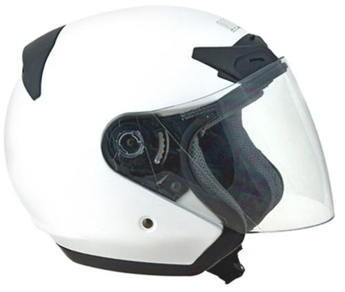 Casco moto jet CGM Prime Bianco Metal
