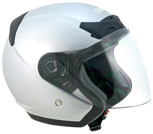 CGM Prime jet helmet Silver