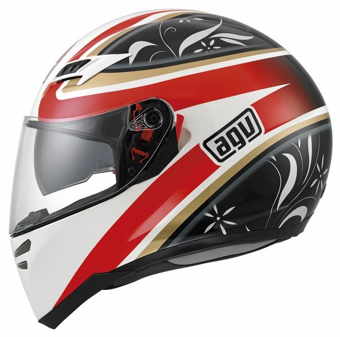 Agv GT Skyline Multi Wings helmet white black red