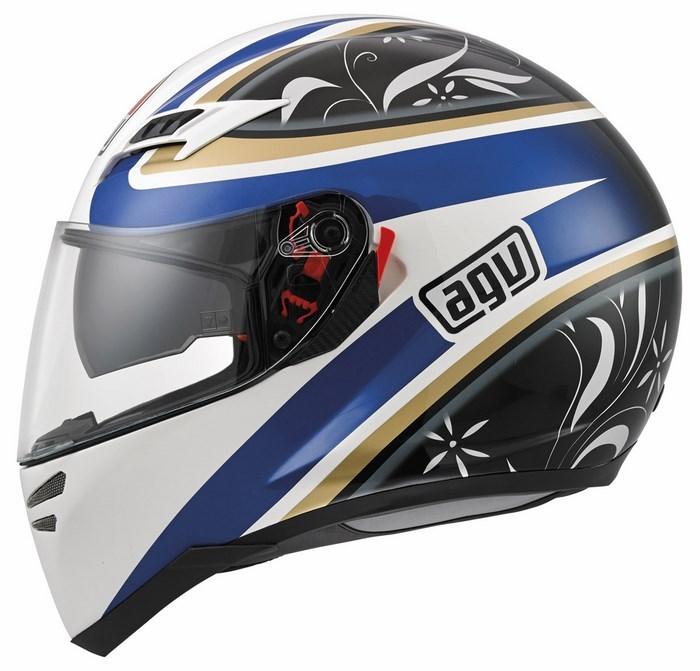 Agv GT Skyline Multi Wings helmet white-black-blue