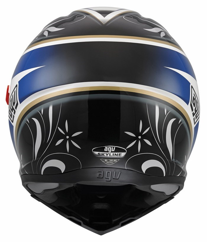 Casco moto Agv Skyline Multi Wings bianco-nero-blu