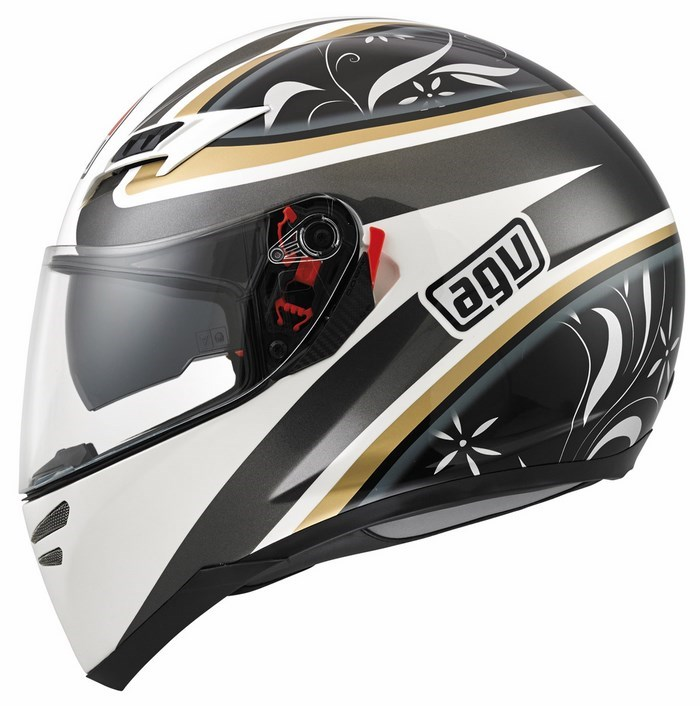 Agv GT Skyline Multi Wings helmet white-gunmetal