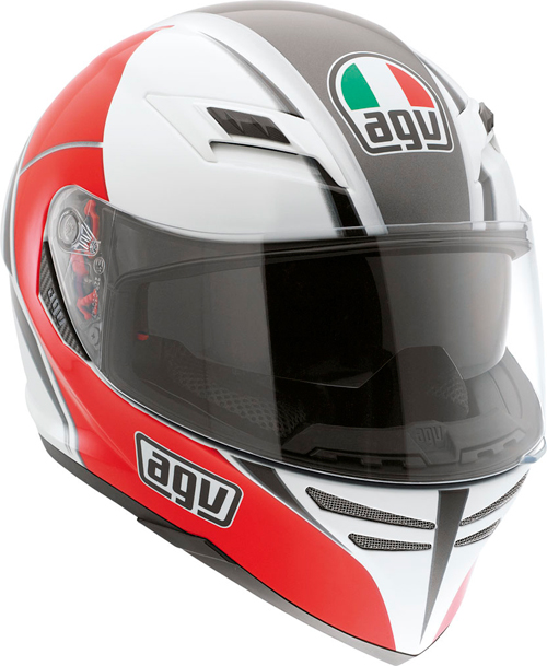 Agv Skyline Multi Block full-face helmet white-red