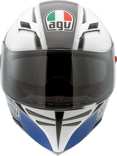 Casco moto Agv Skyline Multi Block bianco-blu