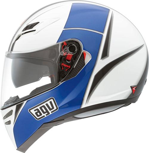 Agv Skyline Multi Block full-face helmet white-blue