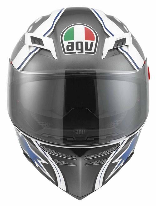 Casco moto Agv Skyline Multi Psyco bianco-gunmetal-blu
