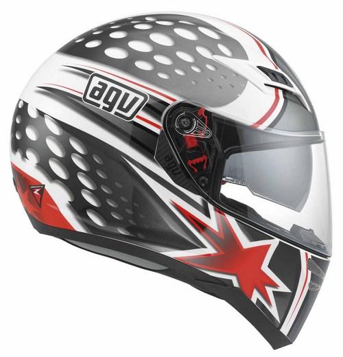 Casco moto Agv Skyline Multi Psyco bianco-gunmetal-rosso