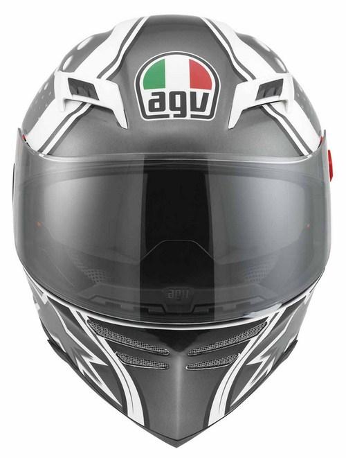 Casco moto Agv Skyline Multi Psyco bianco-gunmetal