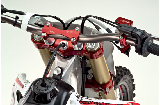 Kite triple clamps Husqvarna Enduro MX Red